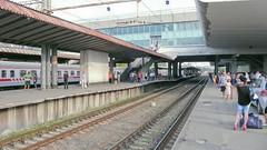 Dworzec kolejowy w Tbilisi.