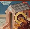 Annunciation to the Theotokos icon detail