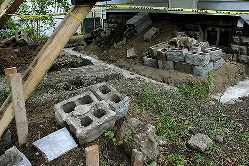 porch foundation poured