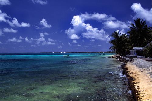 吐瓦魯的首都,富納富提(Funafuti)。(來源:Stefan Lins)