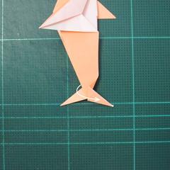 วิธีพับกระดาษเป็นรูปปลาโลมาแบบง่าย (Easy Origami Dolphin) 019