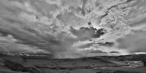 mountains nature clouds landscapes blackwhite asia mongolia rivers storms centralasia altaimountains westernmongolia