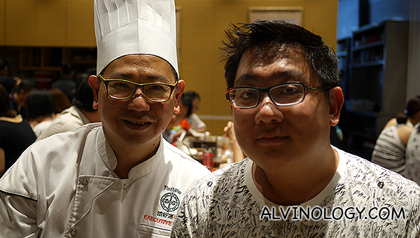 Me with the executive chef at Tim Ho Wan Aperia