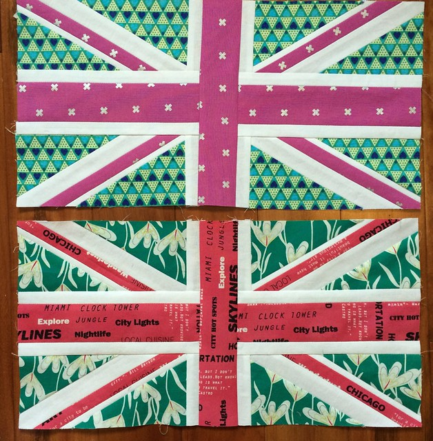 Union Jack blocks for Rhonda