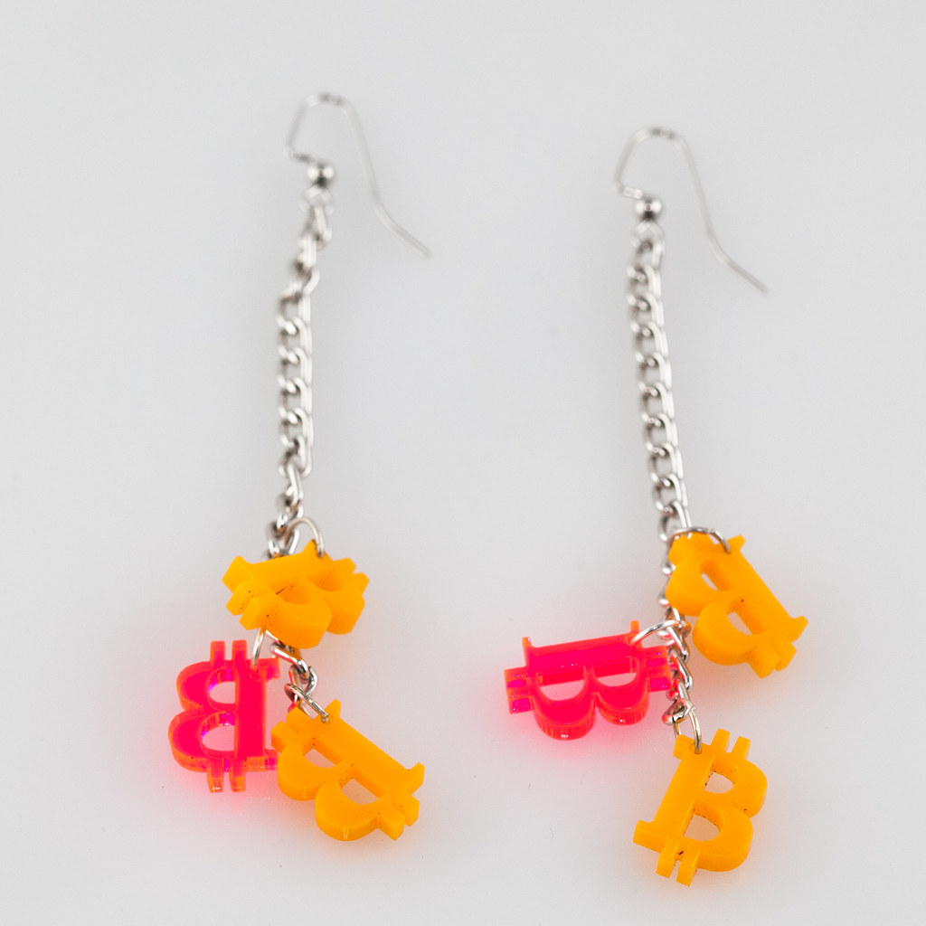 Bitcoin Earrings