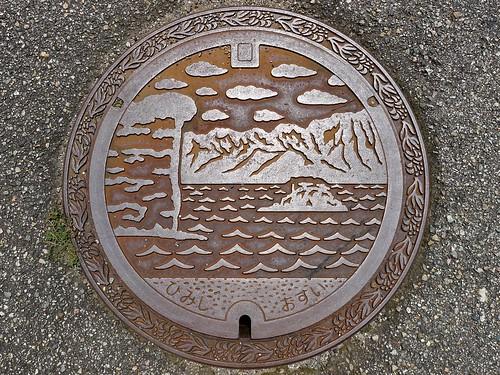 Himi Toyama, manhole cover 2 (富山県氷見市のマンホール2)