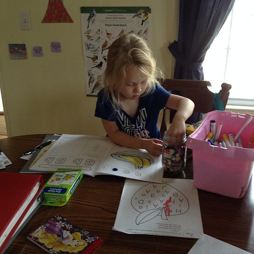 #100homeeddays day 84. Working on the letter B....matching buttons!