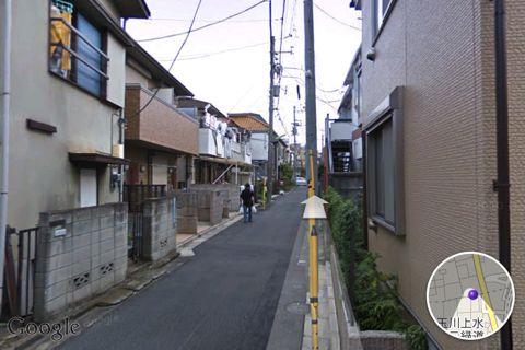 移動先のストリートビュー