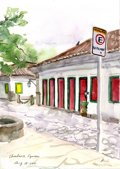 Early morning sketch in Paraty-1( one hour)