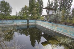 Abandoned Pool and Football Stand