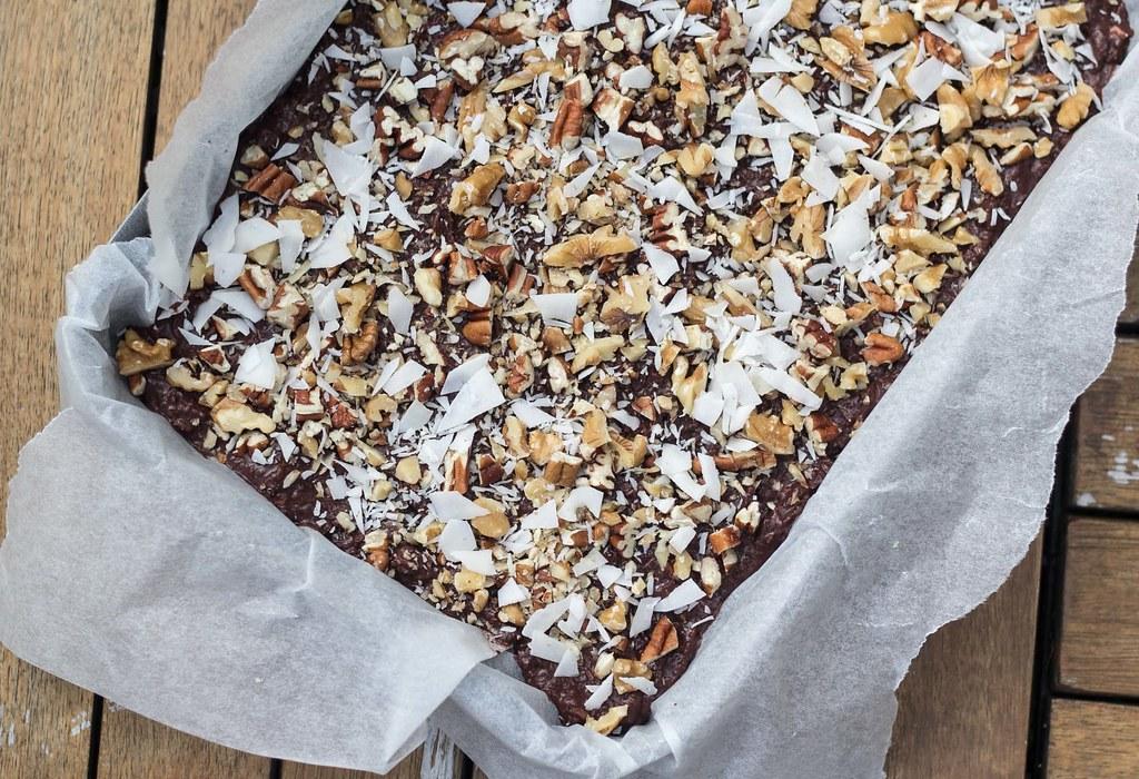Opskrift på hjemmelavet Sund brownie uden sukker og mel (5)