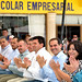 Gobernador Guillermo Padrés, junto alcaldes y funcionarios, durante enveto en el Centro Histórico
