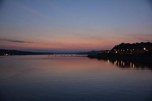 sunset devon teignmouth riverteign shaldonbridge
