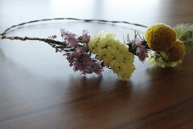 corona de flores #manualidades #aprendiendo