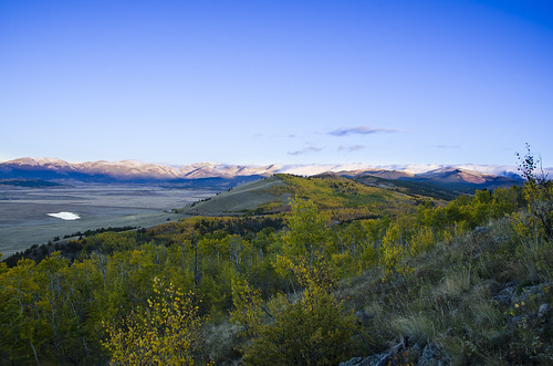 colorado gold aspen aspens fall colors color sunrise morning purple mountains mountain rocky high country south park