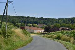 Vers le village de Champagne