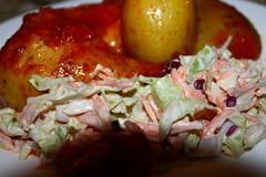 Roast Chicken in a tikka masala served with potato…