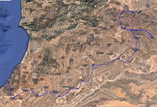 Route Ouarzazate Sidi Ifni