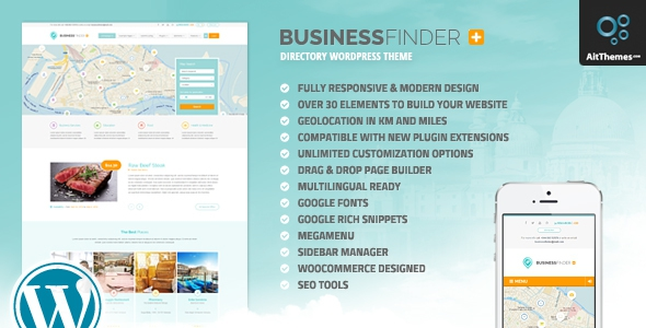 Business Finder+ v1.3 – Directory Listing WordPress Theme