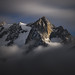 Mont Gruetta at Moonlight by a galaxy far, far away...