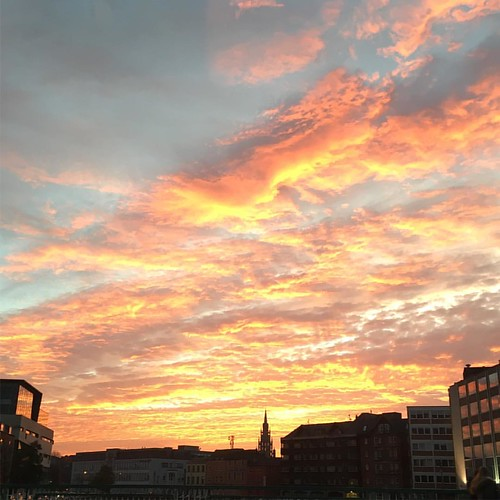 Sunset over Cork city tonight. #nofilterneeded #corkcity #hellocork_ #ig_ireland #sunset #sky #clouds #maxfieldparrish #skyline #sailorsdelight #corkwalkies #purecork #seriouslynofilter #cloudsonfire #cork #ireland #irishsunset