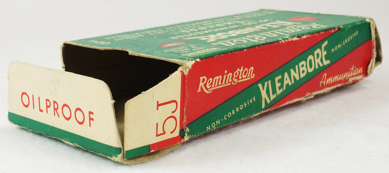 RD14567 Vintage Remington KLEANBORE 30-30 Express 150 gr. Soft Point SMOKELESS Ammo Box & 20 Brass Casings DSC06991