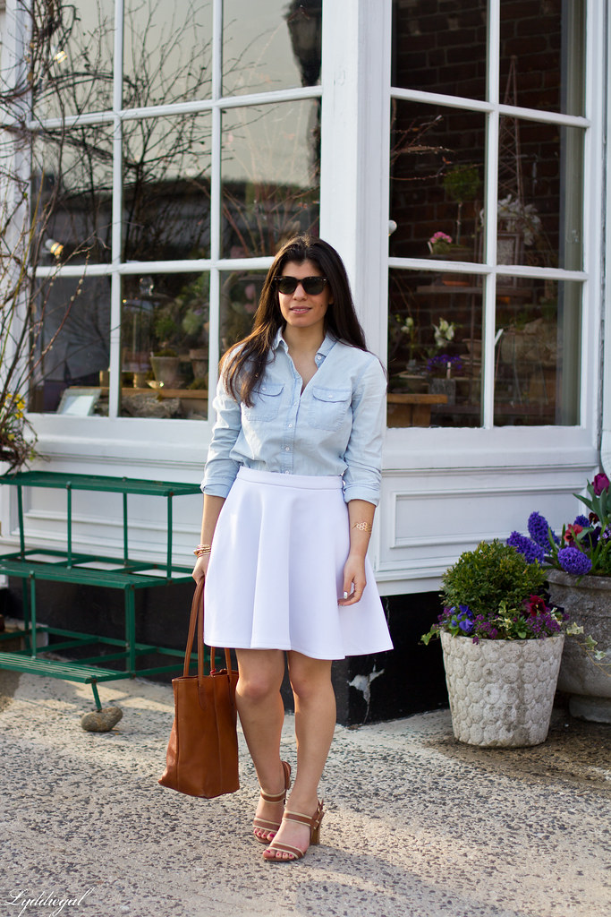 chambray shirt, white skirt.jpg