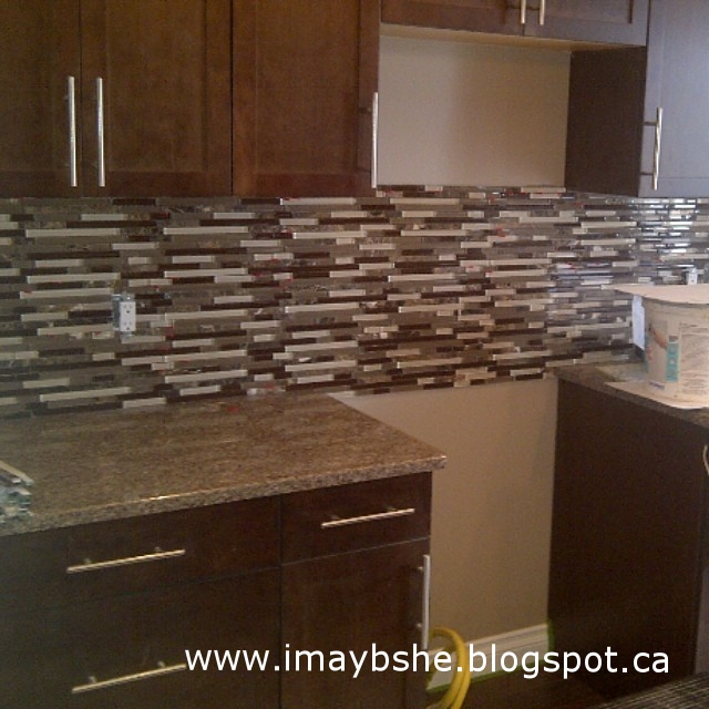Pics of the backsplash as it goes in. #100happydays