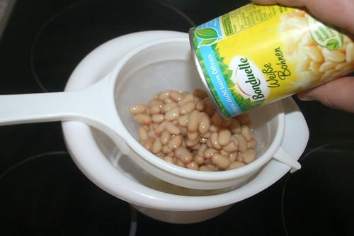 21 - Bohnen abgießen / Drain beans