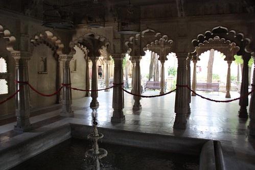 arches of the city palace in Udaipur
