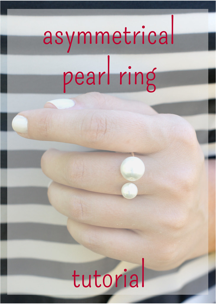 easy asymmetrical pearl ring tutorial