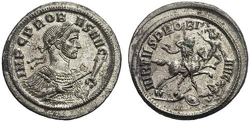 645 – Probus. Denarius, no year, Ticinum