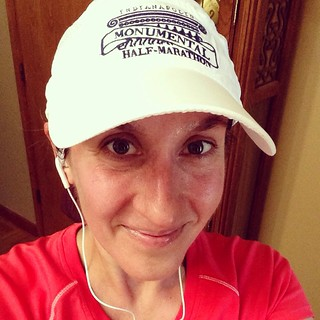 Wearing my inspiration race series hat during full marathon training
