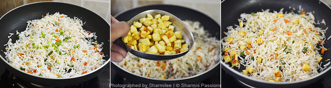 How to make paneer fried rice - Step3