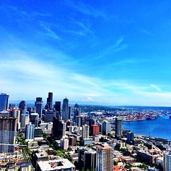 Seattle from the Space Needle (can you see Mt. Rainer?)