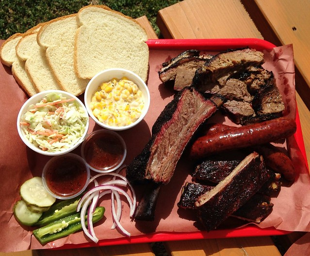 brisket and beef rib at Kerlin Barbecue in Austin