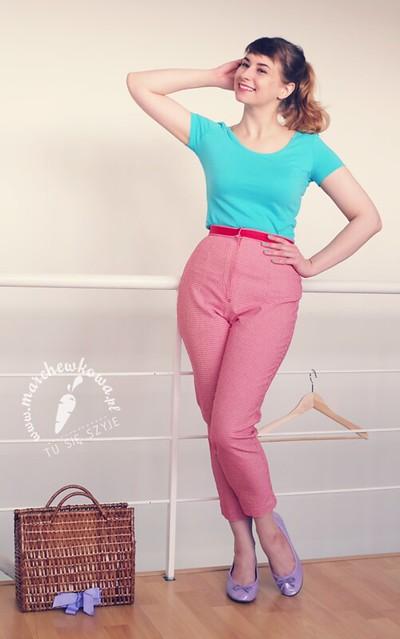 blog, marchewkowa, moda, fashion, retro, vintage, 50s, 60s, capri, Pedal pushers, spodnie, trykot, szycie, sewing, krawiectwo, Burda, porady