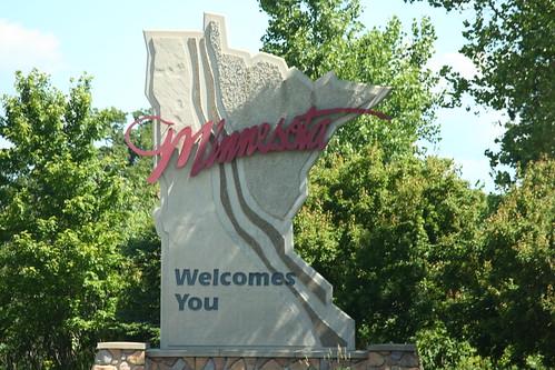 Minnesota state sign