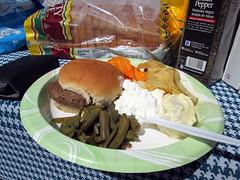 Hamburger Picnic Plate.