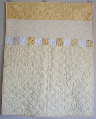 back of yellow quilt