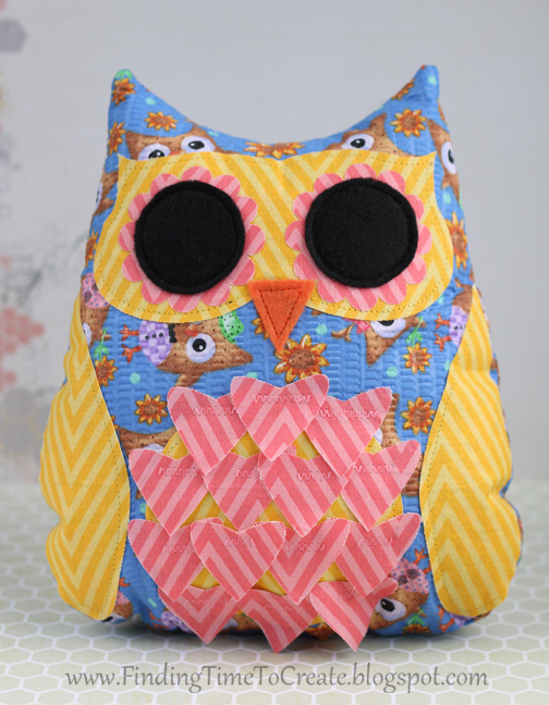 Stuffed owl by Kelly Wayment Finding Time To Create