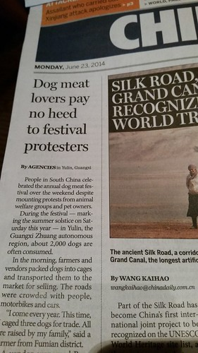 What's making headlines in China.
