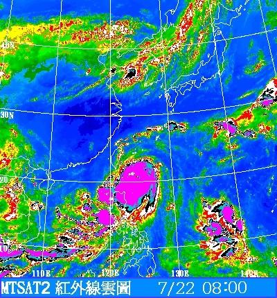 紅外線雲圖。(圖片來源:中央氣象局)