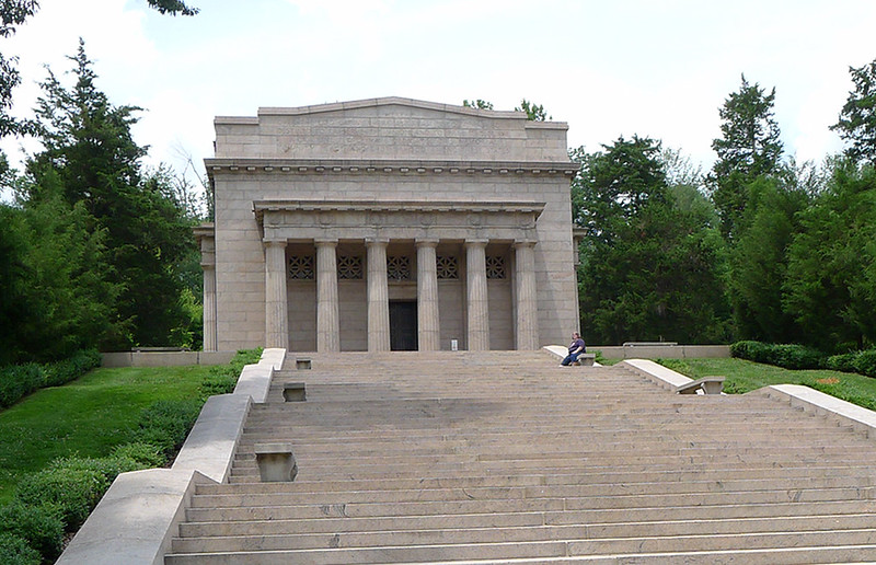 Front of the Lincoln Birthplace Memorial as seen in June of 2014