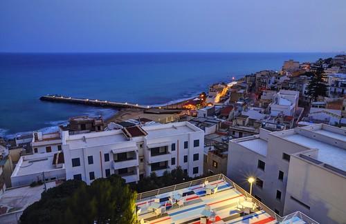 light sea italy coast sicily italie nightfall sicile marinelladiselinunte