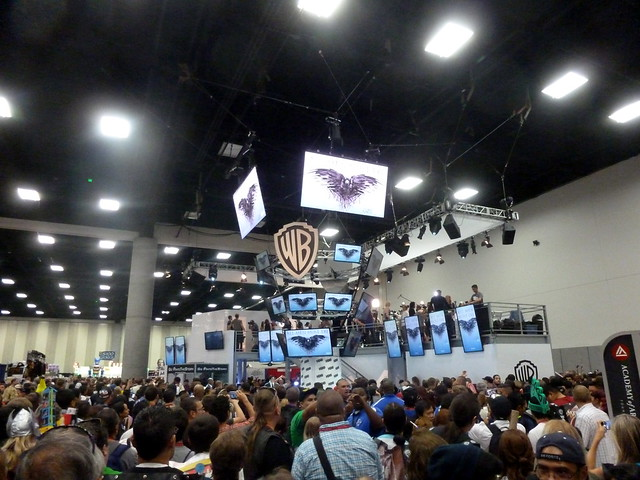Crowd hoping for a glimpse of the Game of Thrones cast