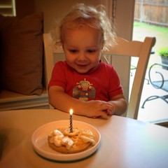 "Happy 2nd Birthday Kayson. Had a ""small"" party with family and a snow ball fight.  #birthdaywaffles #lovethiskid"