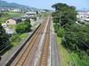 Railroad tracks at Bungo Toyooka Station