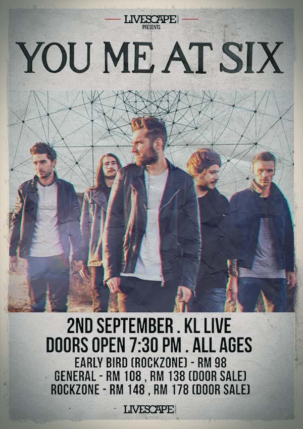You Me At Six Bakal Perform di KL Live