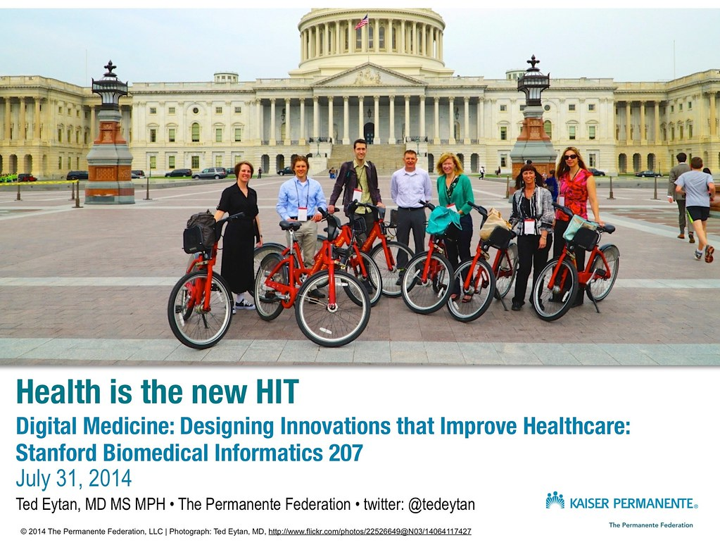 "Presentation: ""Health is the new HIT"" - Stanford University Biomedical Informatics 207"